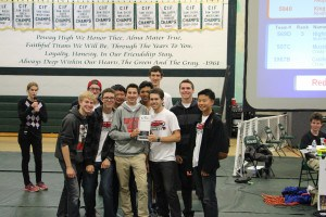 December 14, 2014- 569B after winning Excellence at the Poway tournament, qualifying them for States.