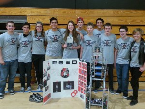 December 13, 2014- Team 569D went to the Hesperia comp on their own and took home the Judges award.